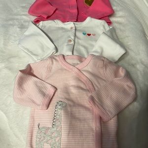Bundle (3) 3 month size girl snap tops